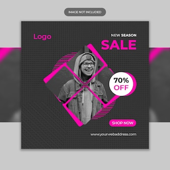 Nueva temporada saler instagram fashion banner template