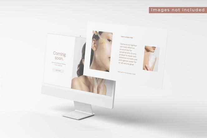 Nueva vista derecha de la maqueta de la pantalla de escritorio 2021