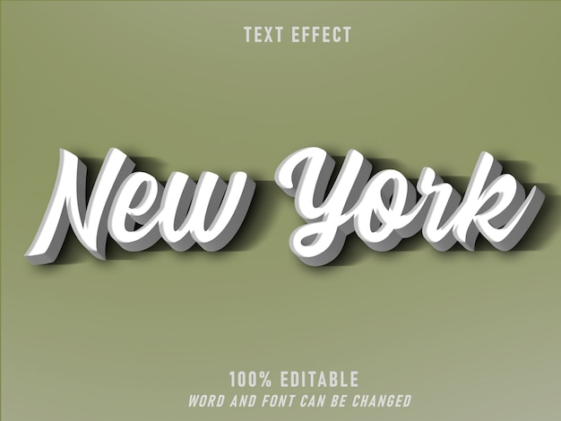 Nueva york efecto estilo retro estilo editable vintage