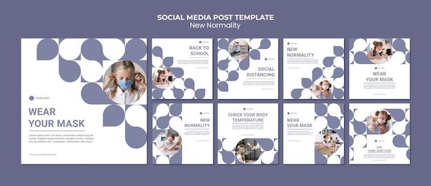 Nuevas publicaciones de normalidad en las redes sociales
