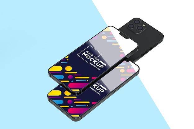 Nuevo paquete móvil con maqueta
