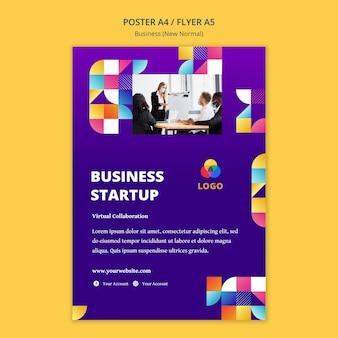 Nuevo tema de póster normal de negocios.