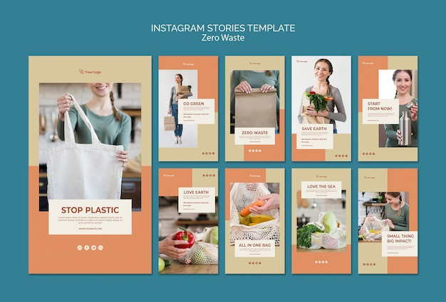 Nul afval instagram verhalen sjabloon