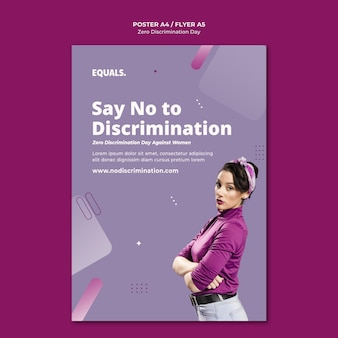 Nul discriminatie dag evenement folder sjabloon