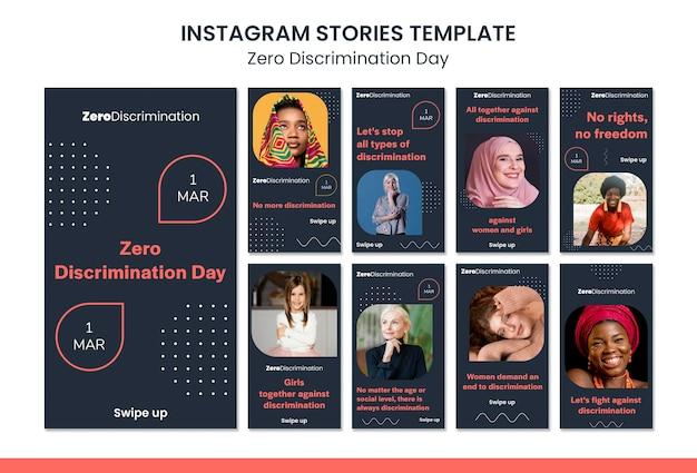 Nul discriminatie dag sociale media verhalen