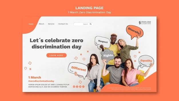 Nul discriminatie dag websjabloon