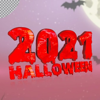 Número 3d 2021 de halloween