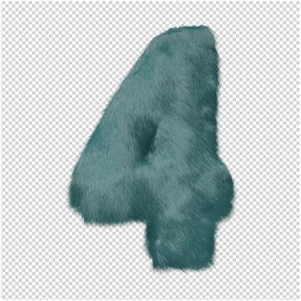 Número de renderizado 3d de piel