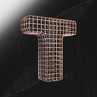 Nummer 0 3d render met realistisch zijaanzicht van de metalen textuur