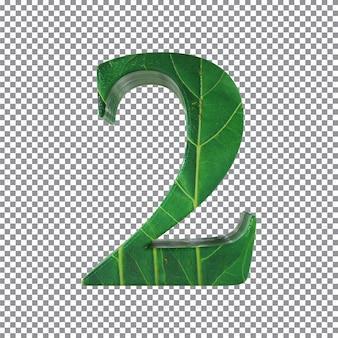 Nummer 2 stijl bladeren