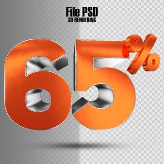 Nummer 65 3d oranje