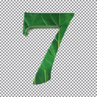 Nummer 7 stijl bladeren