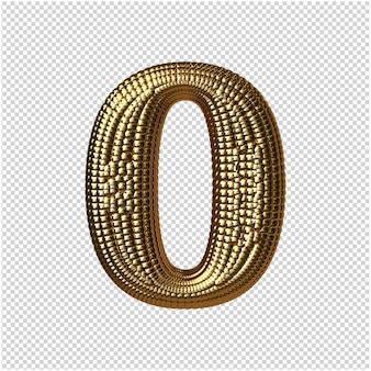 Nummer van gouden bollen 3d-rendering
