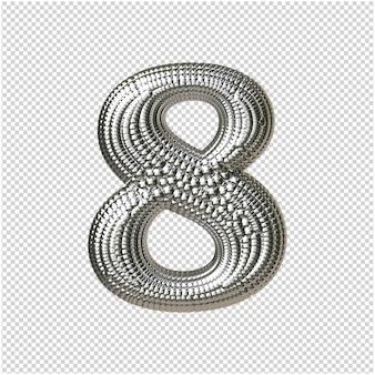 Nummer van zilveren bollen 3d-rendering