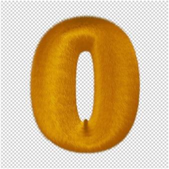 Nummers gemaakt van gemberbont. 3d-nummer 0