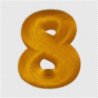 Nummers gemaakt van gemberbont. 3d-nummer 8