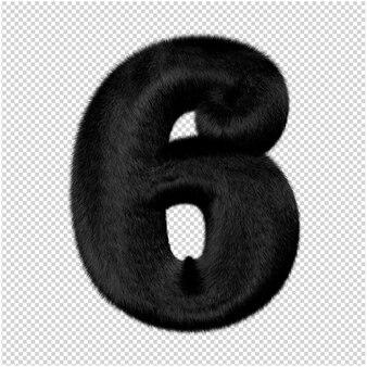 Nummers zijn gemaakt van zwart nertsbont. 3d-nummer 6