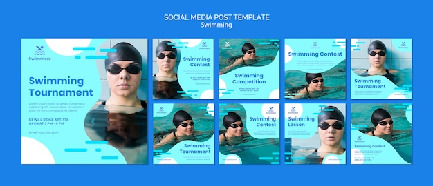 Nuoto modello post social media