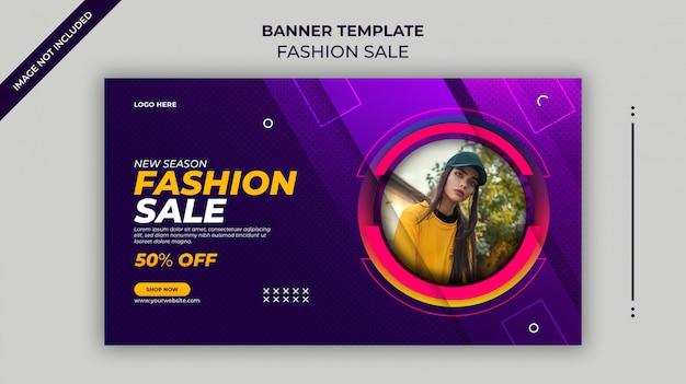 Nuova stagione moda vendita banner web o modello di banner instagram