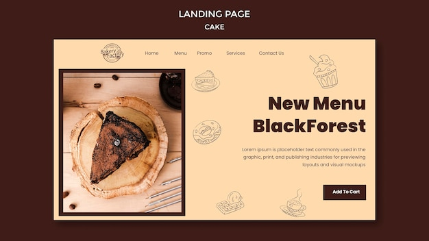 Nuovo menu pagina di destinazione blackforest