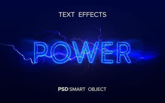 Objeto inteligente de efecto de texto de poder