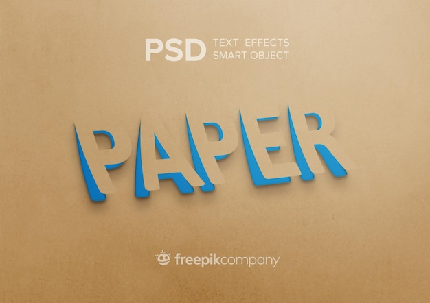 Objeto inteligente de papel de efecto de texto