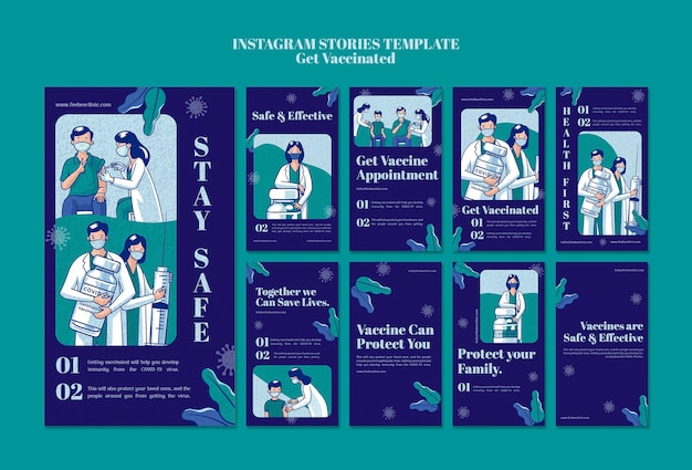 Obtener historias de instagram vacunados