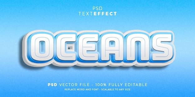 Oceans tekst- en lettertype-effect
