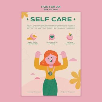 Oefen zelfzorg postersjabloon
