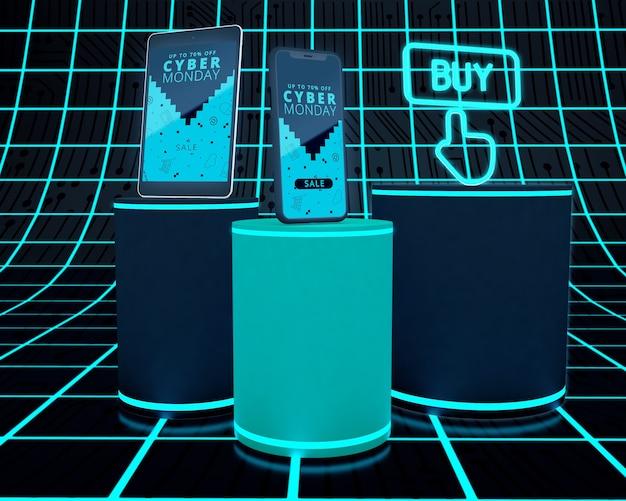 Oferta de compra de teléfonos y tabletas de cyber monday