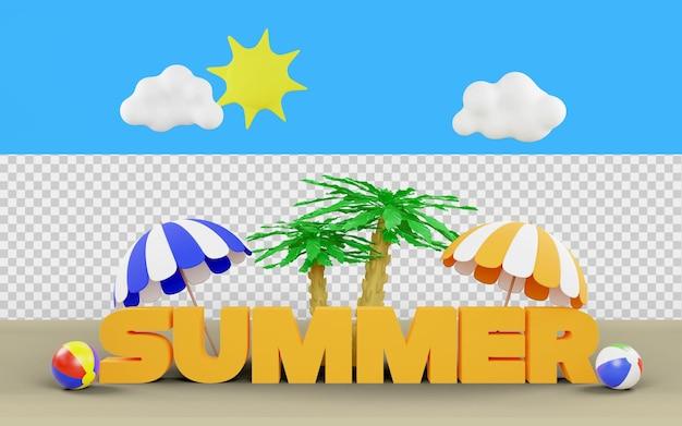 Oferta de descuento de verano en renderizado 3d