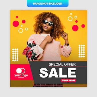 Oferta especial cartel de redes sociales