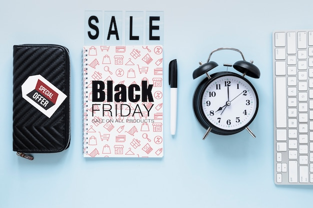 Oferta especial publicitaria para el viernes negro