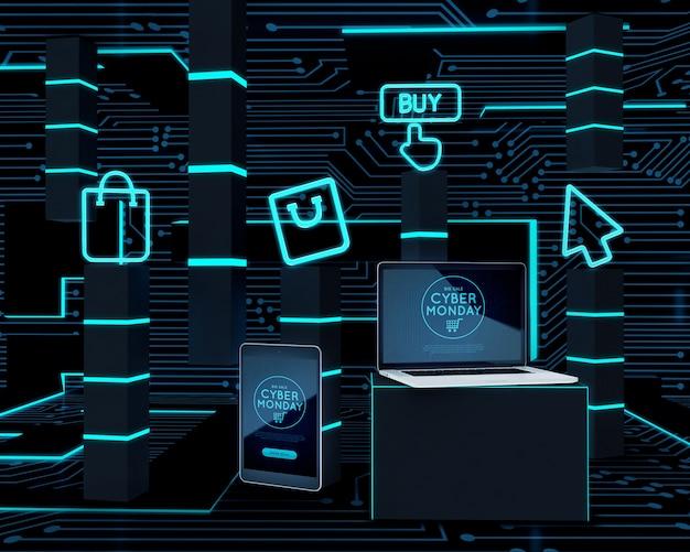 Oferta de lunes cibernético de dispositivos de alta tecnología PSD gratuito