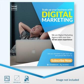 Oferta de suscripción a marketing digital plantilla de publicación en redes sociales