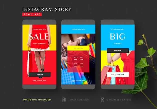 Oferta de venta plantilla de historias de instagram