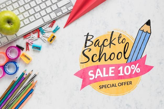 Oferta de venta de regreso a la escuela con 10% de descuento