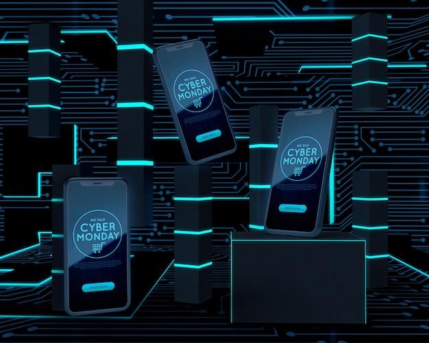 Oferta de venta de teléfonos cyber monday