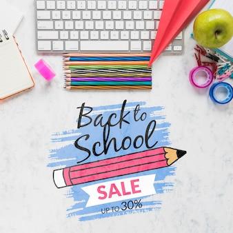 Offerta di vendita a scuola con uno sconto del 30%