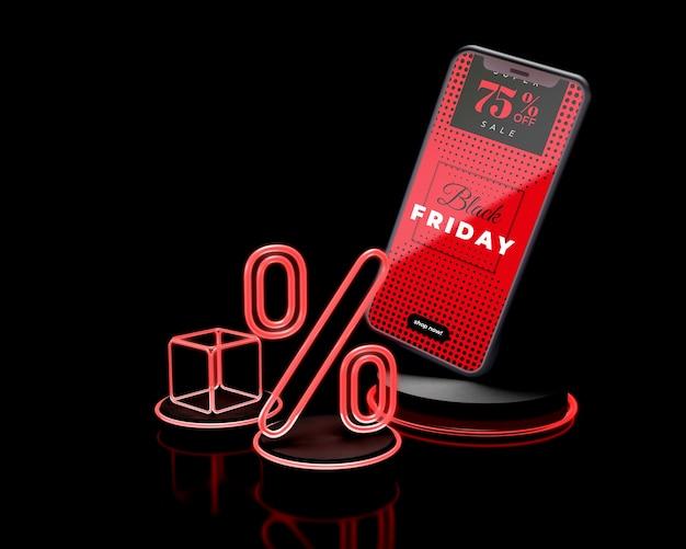 Offerta speciale di smartphone venerdì nero