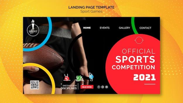 Officiële sportcompetitie websjabloon