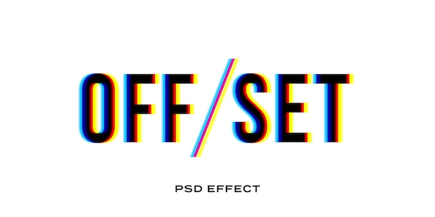 Offset glitch teksteffect sjabloon