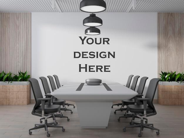 Oficina interior de la sala de reuniones blanca