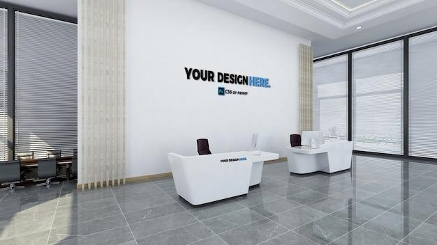 Oficina de negocios corporativos recepción maqueta