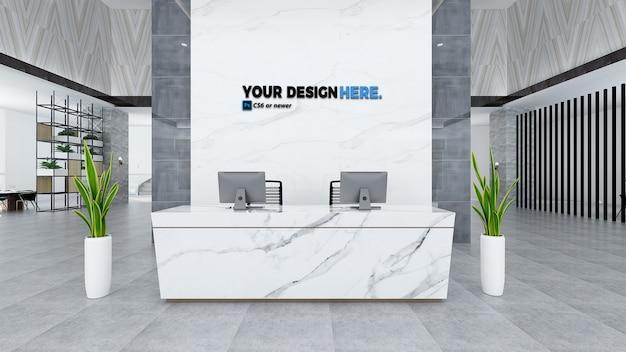 Oficina de negocios maqueta de recepción