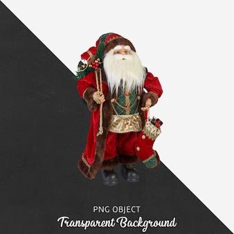 Oggetto natalizio su trasparente