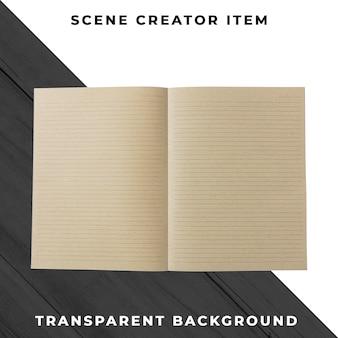 Oggetto notebook psd trasparente