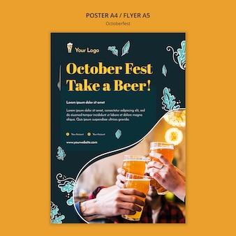 Oktoberfest festival flyer-sjabloon