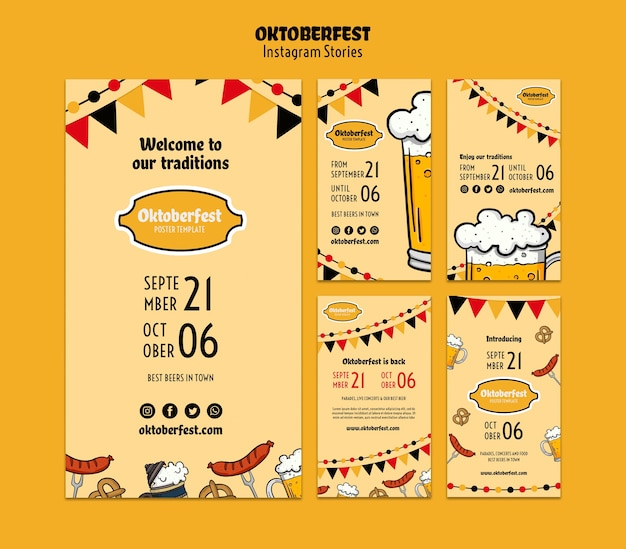 Oktoberfest-sjablonen voor sociale media