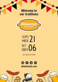 Oktoberfest sjabloon folder